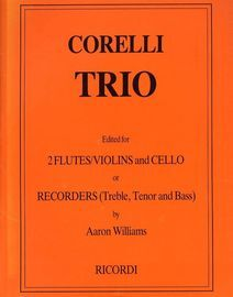 Trio - Edited for 2 Flutes/Violins and Cello or Recorders (Treble, Tenor and Bass) - Op. 3, No. 5