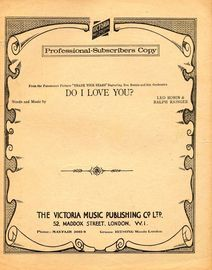 Do I Love You? - From the Paramount picture 'Thank Your Stars' - Professional copy