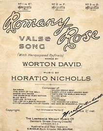 Romany Rose - Song - In the key of E flat major for low voice