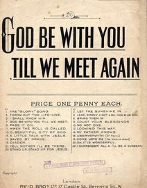 God Be With You Will We Meet Again - Chiristian Choralist Series No. 7 - Staff and Tonic Sol-Fa Combined