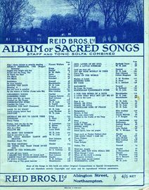 Reid Bros Ltd Album of Sacred Songs - Staff and Tonic Solfa Combined - 144 Pages