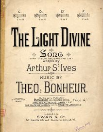 The Light Divine - Song - In the key of F major for high voice