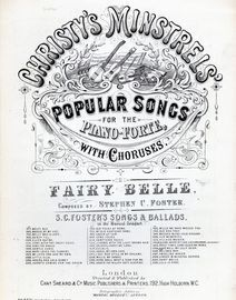 Fairy Belle. Christy's Minstrels Popular Songs for the pianoforte