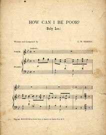 Baby Loo (How Can I Be Poor?) - Song