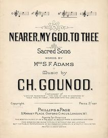 Nearer My God To Thee - Sacred Song - In the key of B flat major