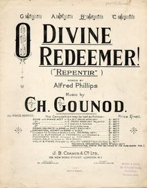 O Divine Redeemer (Repentir) - In the key of  B flat