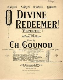 O Divine Redeemer (Repentir) - In the key of  C major for High Voice