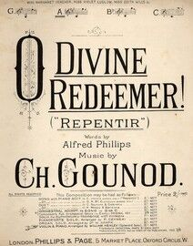 O Divine Redeemer! (Repentir) - Song In the key of A major