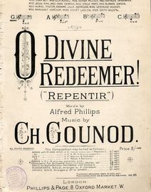 O Divine Redeemer (Repentir) - Song In the key of  G major for Low Voice