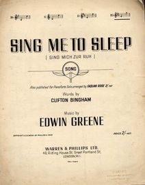 Sing Me to Sleep ( Sing Mich Zur Ruh )  - Song - In the key of E flat major for High Voice