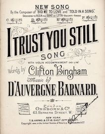 I Trust You Still  -  Song With Violin Accompaniment - In the key of D major