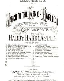 March of the Men of Harlech, No. 3 of Lillies Music Roll