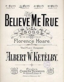 Believe Me True - Song in the key of G major