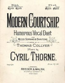 A Modern Courtship - Vocal Duet - In the key of C major for Baritone - Mezzo Soprano