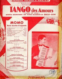 Tango des Amours (Tango of Love). Famous Soloists Series