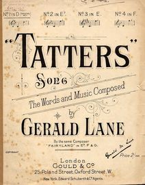 Tatters - Song - In the original key D major for low voice