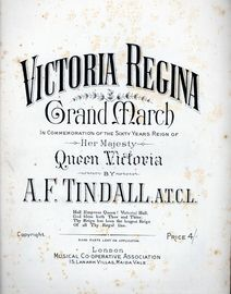 Victoria Regina, grand march in commemoration of her sixty year reign