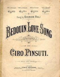 Bedouin Love Song for Low Voice in B with Simplified Accompaniment