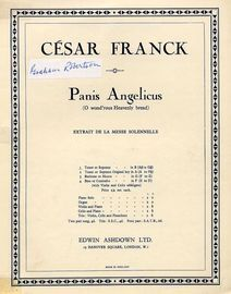 Panis Angelicus  (O Wond\'rous Heavenly Bread) - Extrait de la Messe Solennelle - For Tenor or Soprano - Key of B major