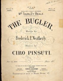 The Bugler - No. 1 in D for Bass, sung by Mr Thurley Beale