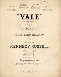 Vale (farewell) - Song in the key of G flat major