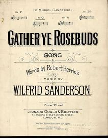 Gather Ye Rosebuds - Song in the Key of G major
