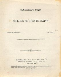 As Long As They're Happy - Key of F