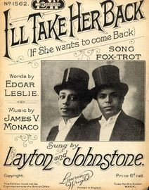 I'll Take Her Back (If she wants to come back) - Layton and Johnstone