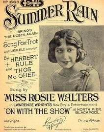 Summer Rain Brings The Roses Again  - Song - Featuring Miss Rosie Walters
