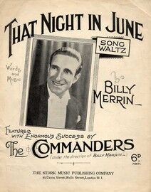 That Night in June - Song Waltz - Featuring Billy Merrin