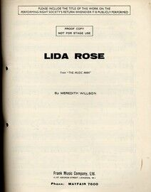 Lida Rose - From the Musical Comedy