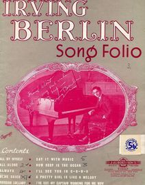 Irving Berlin Song Folio - Featuring Irving Berlin