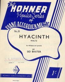 Hyacinth for 48 basses and upwards - No. 21 - The Hohner Popular series of piano accordion music