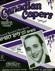 Canadian Capers - Harry Roy, fox trot for piano