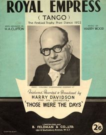 Royal Empress - Tango (The festival trophy prize dance 1922) - Featured, recorded and broadcast by Harry Davidson in