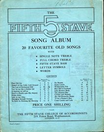 The Fifth Stave Song Album - 20 Favourite Old Songs - For Accordion