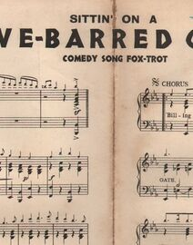 DANCE BAND with Vocals:- Sittin' on a Five Barred Gate- Comedy Song Fox-Trot