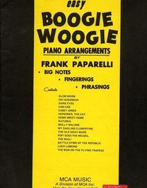 Easy Boogie Woogie Piano Arrangements. Book 1