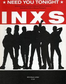 Need You Tonight - Recorded by INXS on Mercury/Phonogram Records - For Piano and Voice with Guitar chords