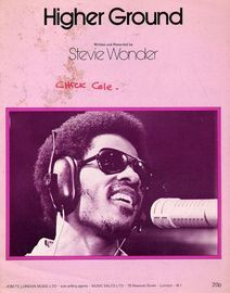 Higher Ground - Written and Recorded by Stevie Wonder - For Piano and Voice with Guitar chord symbols
