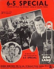 6-5 Special - Signature Tune of the BBC TV Programme - A Featured in the Anglo Amalgamated film 6-5 Special - Recorded by Don Lang
