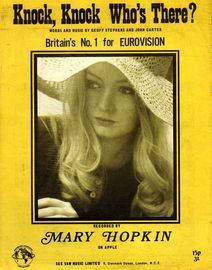Knock, Knock, Who's There: Mary Hopkin -  Eurovision Song Winner 1970
