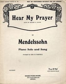 Hear My Prayer -  Piano Solo and Song with Violin & Cello Ad Lib.