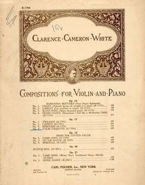 Valse Coquette - Compositions for Violin and Piano series No. B 1794 - Op. 17, No. 4