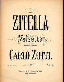 Zitella - Valsette for the Pianoforte