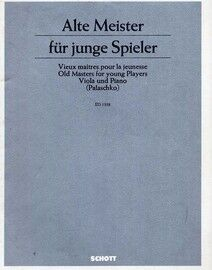 Alte Meister fur Junge Spieler (Old Masters for Young Players) - Easy Classical Pieces for Viola and Piano - Edition Schott 1338