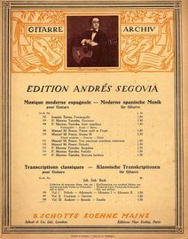 Andante, Bourree- Double- Guitar Archive Series No. 108, Vol III - Edition Andres Segovia