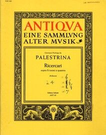 Antiqva - Eine Sammlung alter Musik - Ricercari - Sopra li Tuoni a Quattro (For SATB and Piano Accompaniment) - Edition Schott ANT 85