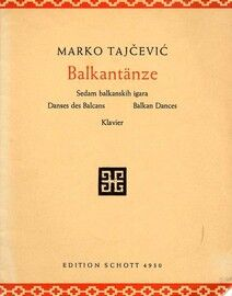 Balkantanze (Balkan Dances) - Piano Solos - Edition Schott No. 4930