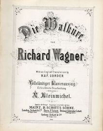 Die Walkure - Music drama in 3 Acts